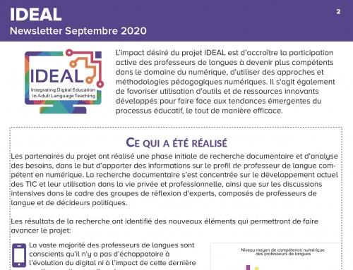 Newsletter n°2 du projet IDEAL